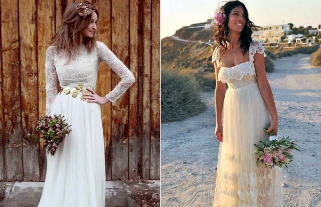 Свадебные платья рустик