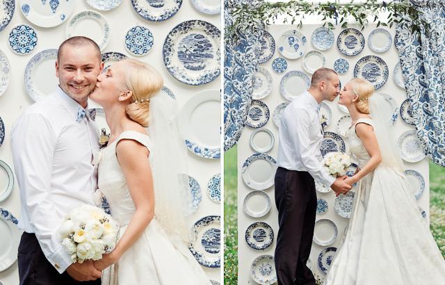 Жених и невеста на фарфоровой свадьбе