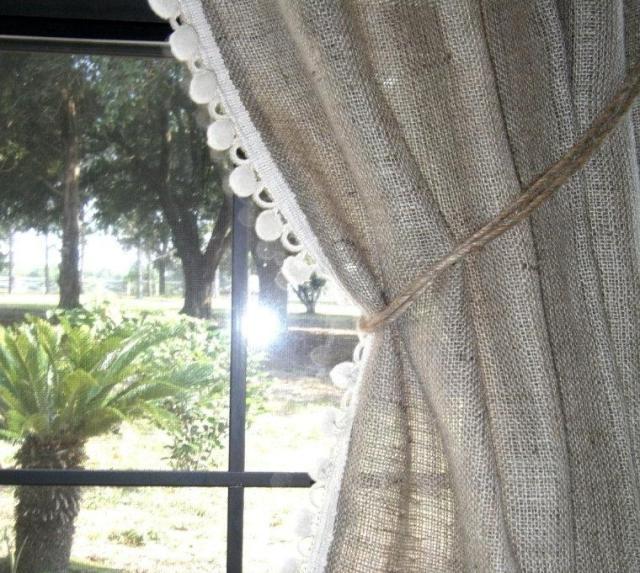 Льняные шторы