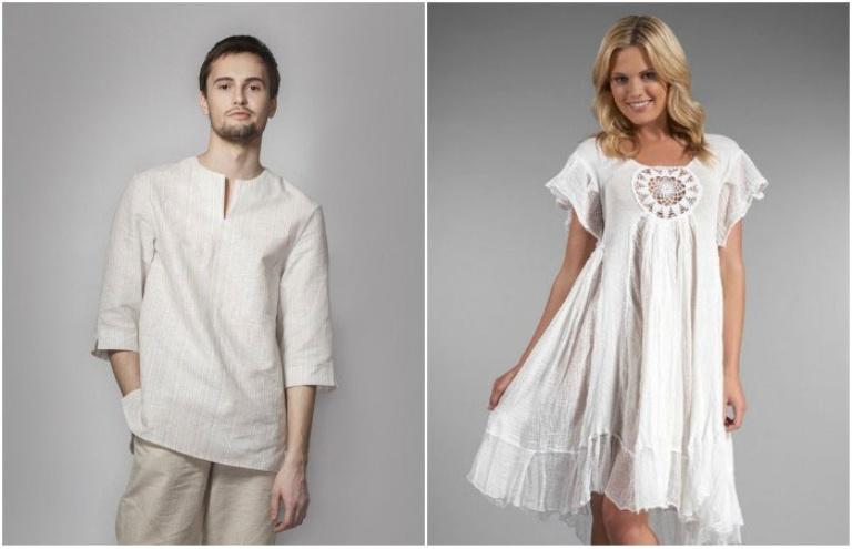 Одежда для льняной свадьбы