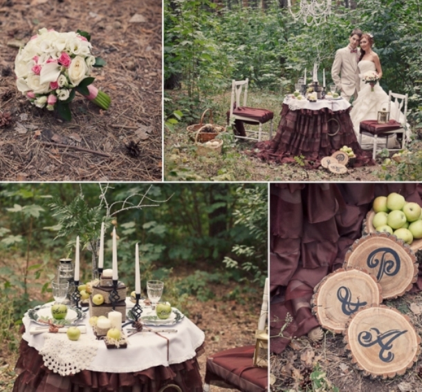 Рустикальная свадьба на природе