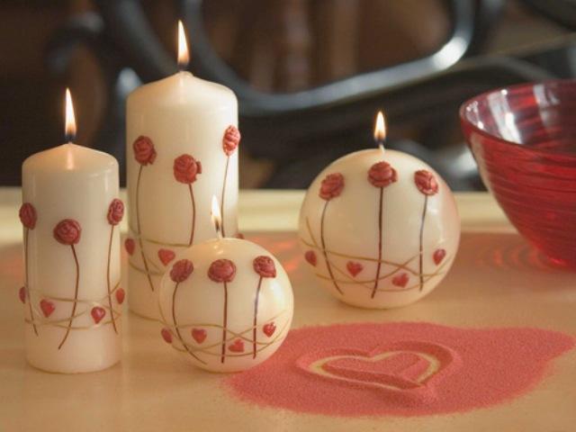 Свечи на льняной свадьбе