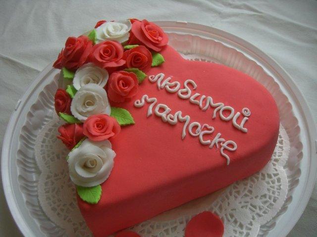Торт на 8 Марта для мамы