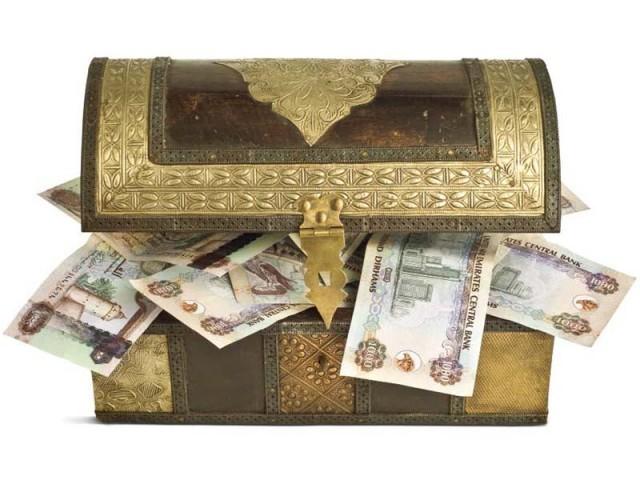 Деньги в подарок в шкатулке