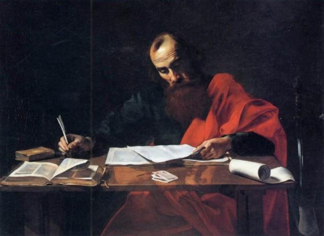 Апостол Павел пишет Послание