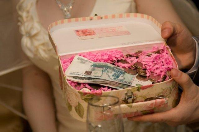 Деньги в подарок на свадьбу