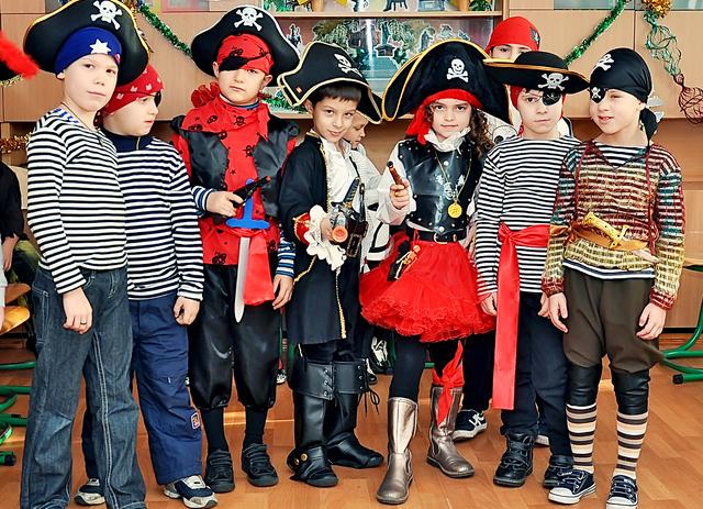 Детская пиратская вечеринка костюмы