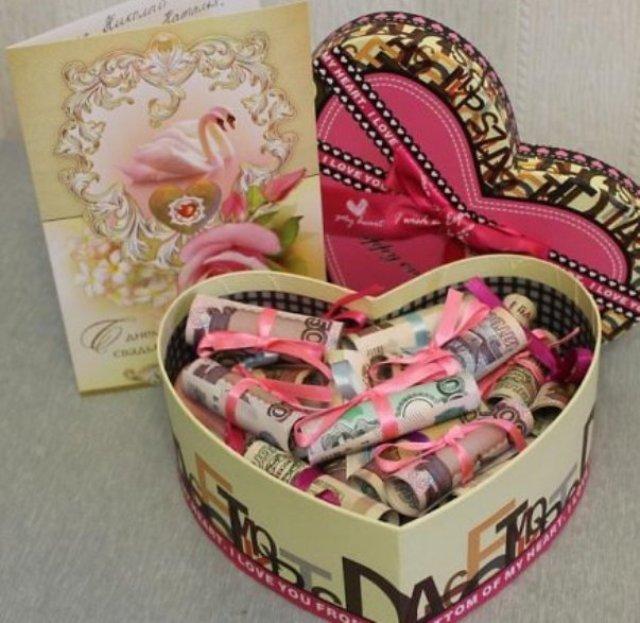 Конфетная подарочная коробка под деньги