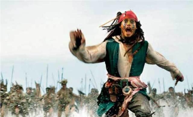 Пират бежит