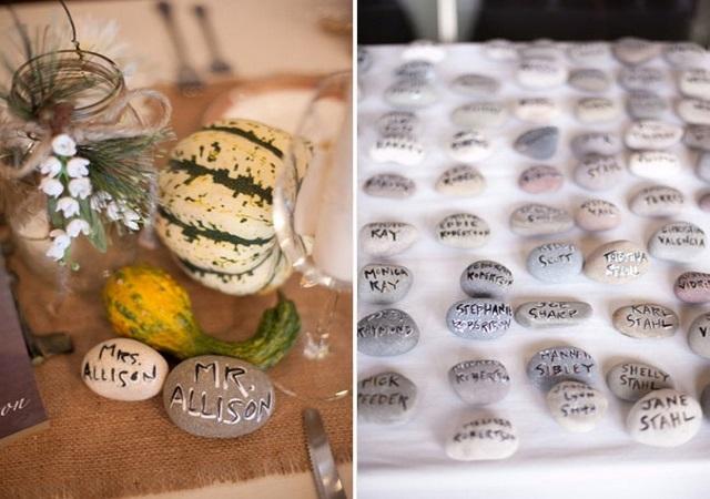 Камни в декоре ноябрьской свадьбы