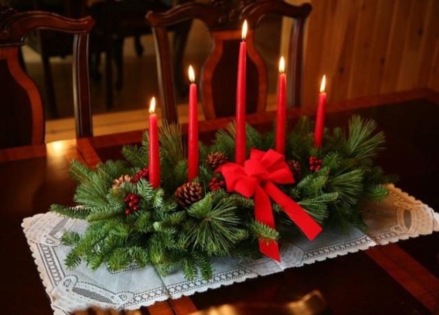 Украшения для новогоднего стола фото