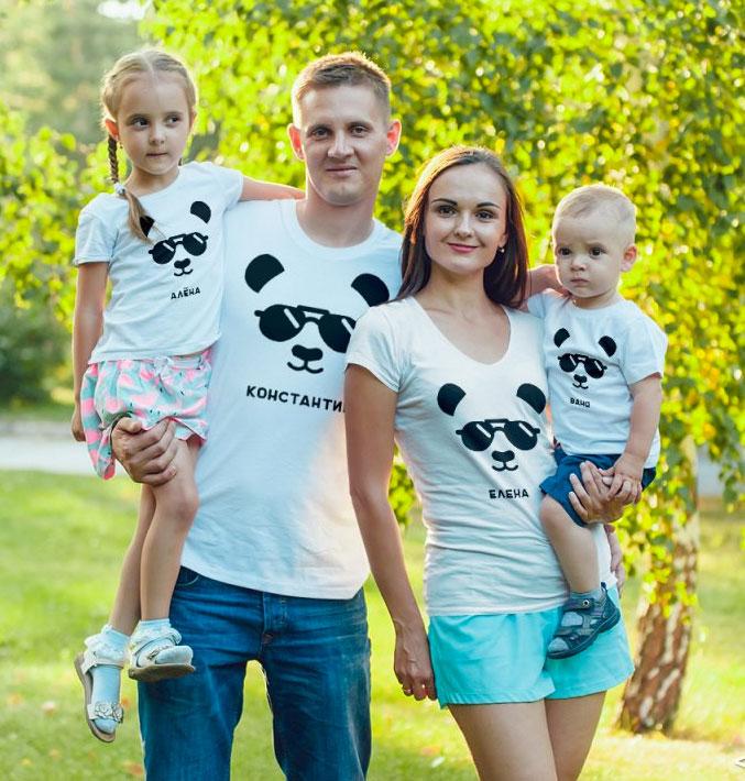 одинаковые футболки для всей семьи для фотосессии волнение невольно