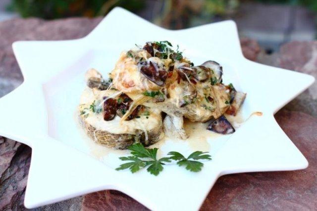Рыба по-карпатски с грибами