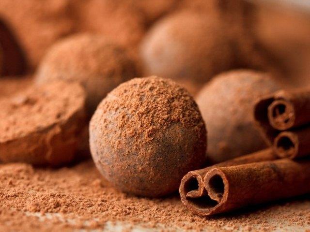 шоколадно-мятные трюфели