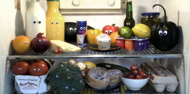 Глазки на продуктах