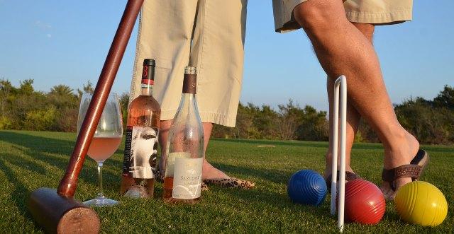 Крокет и вино