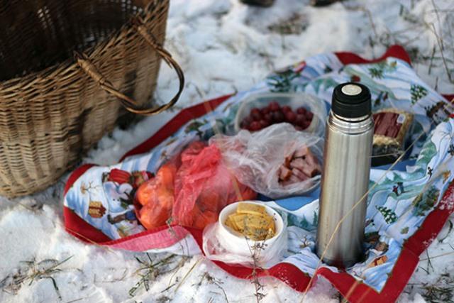 пикник в лесу