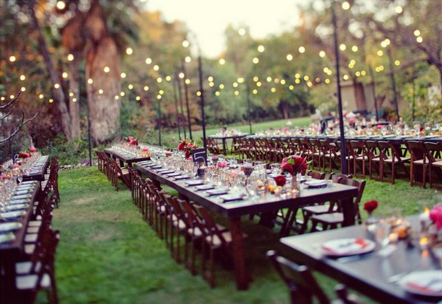 Свадьба на свежем воздухе