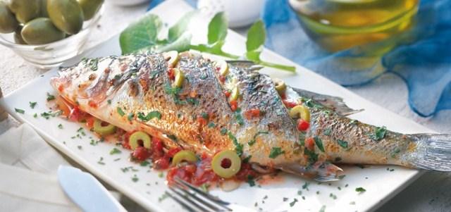 Кушанья с рыбой