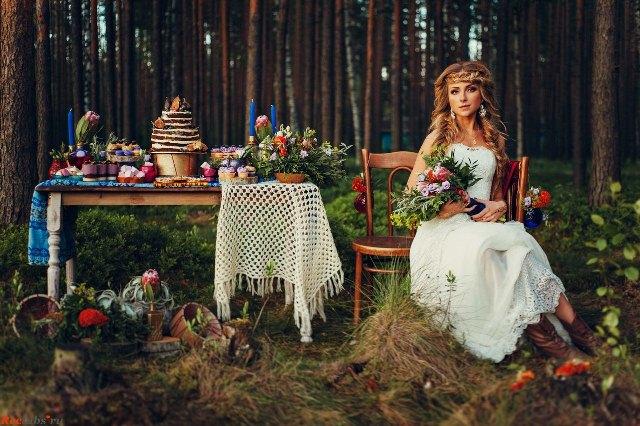Свадьба в стиле лесной сказки