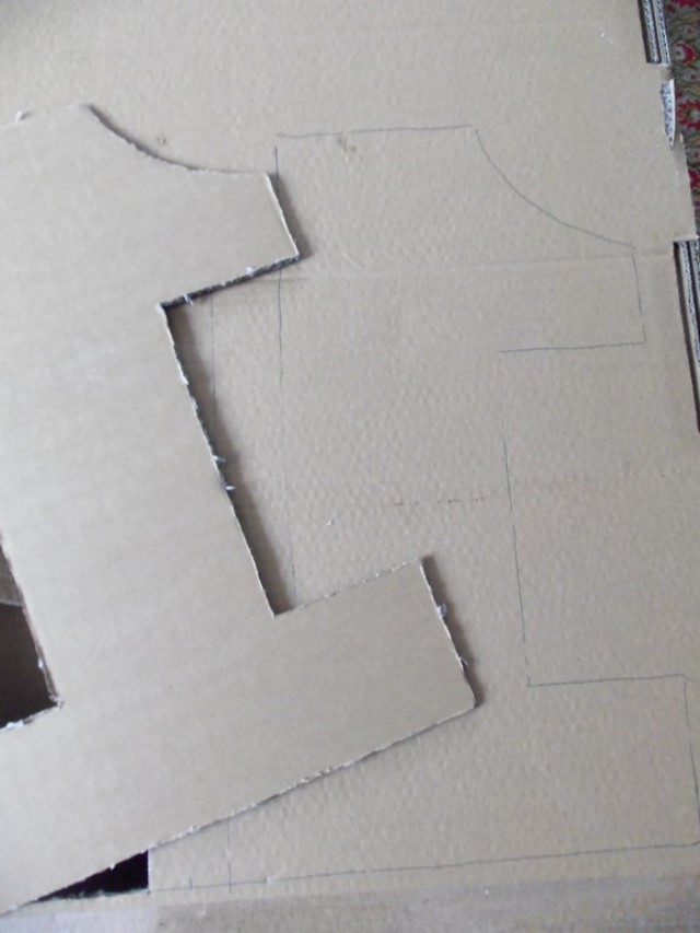 Цифра 1 из картона