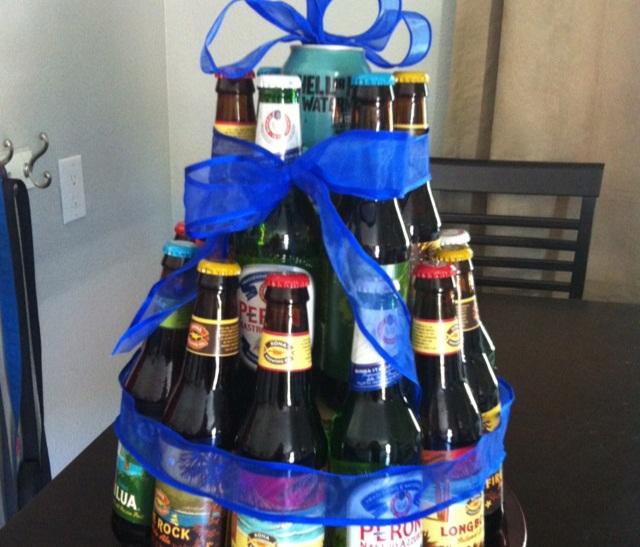 Подарок на 23 февраля мужу из пива