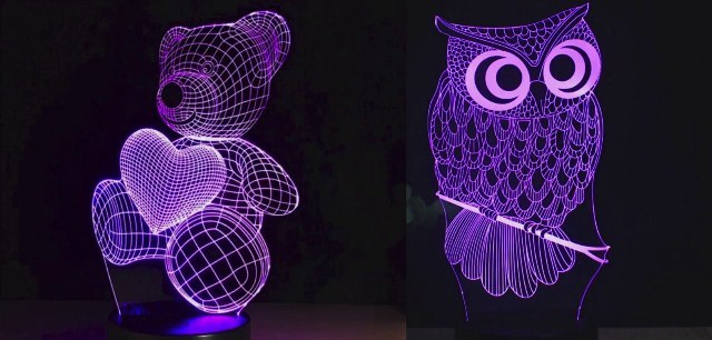 3-D светильники