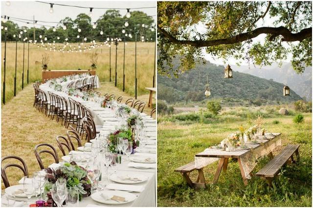 Свадьба в деревне летом дубовый стол 2