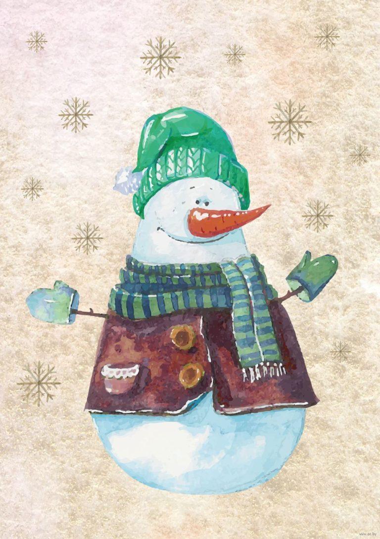 Снеговик на открытках с новым годом, поздравления днем